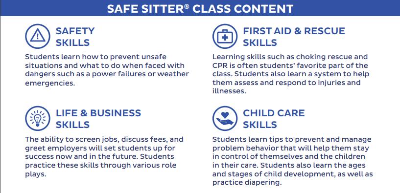 SeymourEMS Safe Sitter Course Content